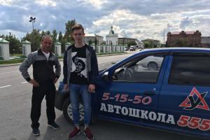 Виктор Александрович с курсантом Андреем Картаполовым