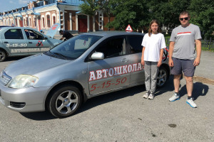 Курсантка Полина и инструктор Колычев Александр.